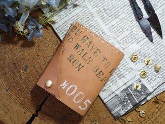 ★姫路レザーオイル仕上げのちっさな三つ折り財布/M005★の画像