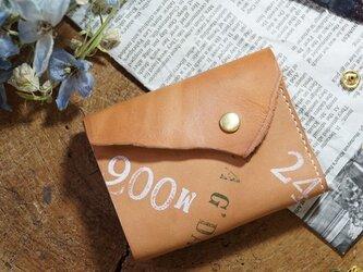 ★姫路レザーオイル仕上げのちっさな三つ折り財布/M006★の画像