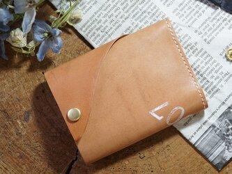 ★姫路レザーオイル仕上げのちっさな三つ折り財布/M007★の画像