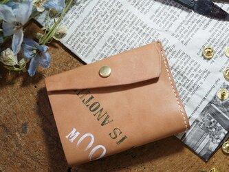 ★姫路レザーオイル仕上げのちっさな三つ折り財布/M009★の画像