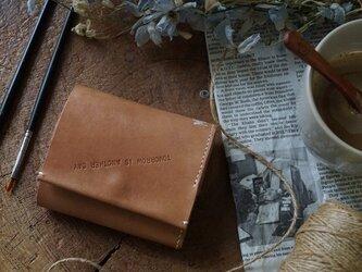 ★姫路レザーオイル仕上げ小銭入れがガバッと開く三つ折り財布/MMW001★の画像