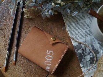 ★姫路レザーオイル仕上げ小銭入れがガバッと開く三つ折り財布/MMW005★の画像