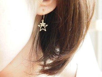 フープイヤリング starの画像