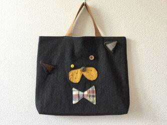 受注制作★Lesson bag【絵本袋】ネコの画像