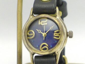 """Lady on Time-B"" カラーダイアルBL/BK Lady's Brass [305B BL/BK]の画像"