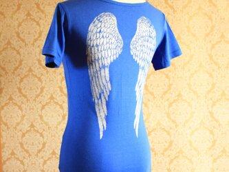 銀の翼Tシャツ ブルーの画像
