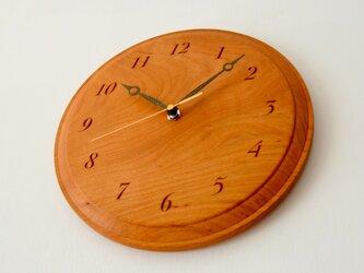山桜の壁掛け時計(直径27cm)の画像