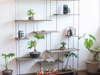 wood iron shelf 1440*1200*225〈グレー〉の画像