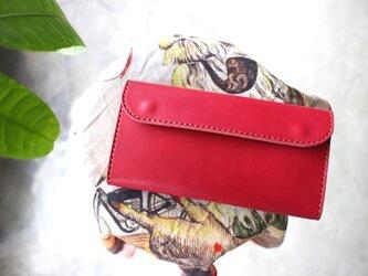 【受注生産品】フラップ長財布 ~姫路アニリンピンク×栃木サドル~の画像