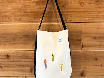 ゲティングアウトSURF 刺繍 バケツ型ワンショルダーバッグの画像