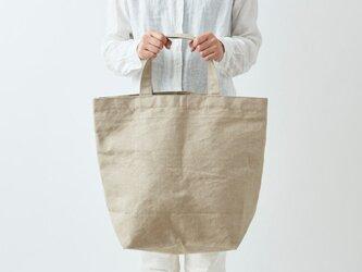 【受注生産】リネン帆布のトートバッグ(M2)の画像