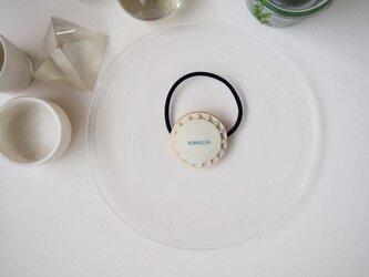 【SS size】 ivory × white jade ~ CIRCLE HAIR ELASTIC【 受注生産 】の画像