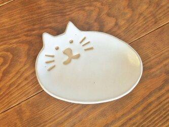 ネコの小皿 しろの画像