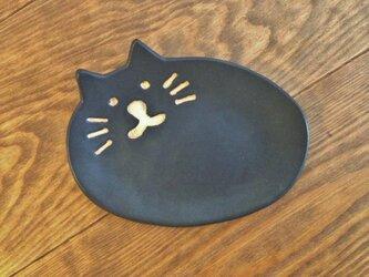 ネコの小皿 くろの画像