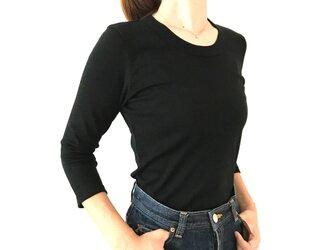 【7分袖】形にこだわった 大人のロングTシャツ【色・サイズ展開有】の画像