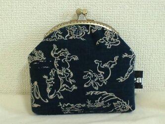 がま口ポーチM(鳥獣戯画)の画像