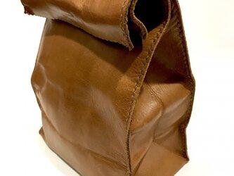 アンティーク紙袋風★バッグインバッグ【キャメル】の画像