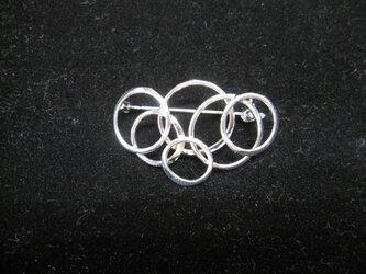 SV ブロ-チ/スカ-フ留め・ロジウムメッキ仕上げ その2(小)の画像