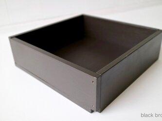 木箱 Plywood box 3 -ブラックブラウン-の画像