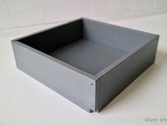 木箱 Plywood box 3 -シルバースモーク-の画像