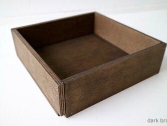 木箱 Plywood box 3 -ダークブラウン-の画像