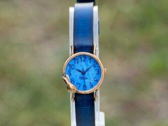 夢みるうさぎ腕時計S深青の画像