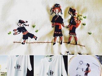シャツ タイデサイン刺繍の画像