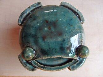 蛙の蓋物の画像