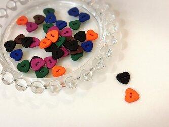 ハロウィンカラーの小さなハートボタン(マット)の画像
