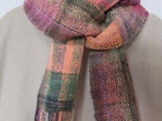 手紬ぎ手織りマフラー #5の画像