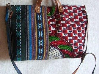 African☆2wayバッグの画像