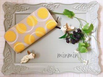 大人かわいい布財布 イエローサークルの画像