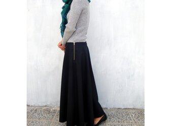 フレアスカート ブラックの画像