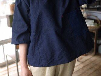結城紬Tシャツタイプのトップスの画像