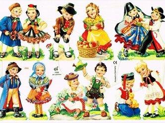 ドイツ製クロモス フォークロアな子供達 ラメなし DA-CHRY028(Made in Germany)の画像