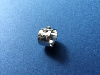 Silver950 のムーンストーン&槌目リングの画像