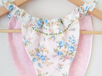 【Sold】姫パン♪ふんどしパンツ ブルーローズとピンクドットの画像