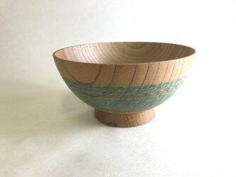 欅 稲穂飯椀 グリーンの画像