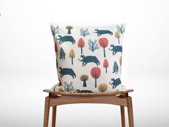 森のクッション Animals in forest Bear Type Bの画像