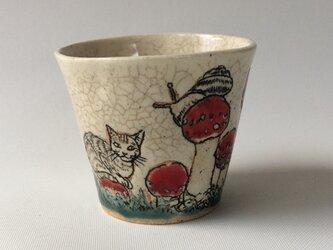 キノコの森の猫.フリーカップBの画像