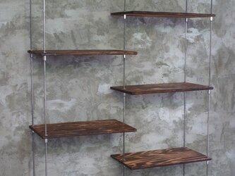 【1台限定SALE】wood iron shelf 1320*1000*300の画像