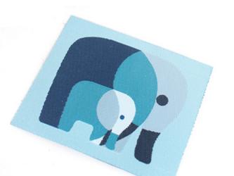 ドイツファーベミクス 織り布タグ-ぞうさん ブルーの画像