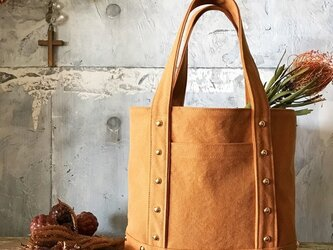 canvas tote bag medium (camel)の画像