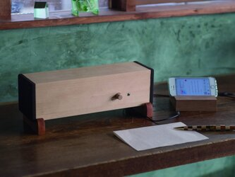 天然木製 小型スピーカー 【Ki・Ki】の画像
