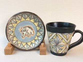 スタイリッシュなカップ&ソーサー《クリスタルブルー》の画像