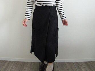 フレンチリネン  ワークロングスカートの画像