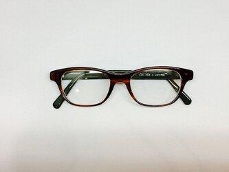 べっこうクリアカラーのナチュラルメガネ(メガネフレーム)の画像