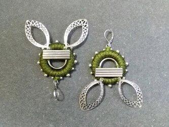 Cambodian Ruins Earringsの画像