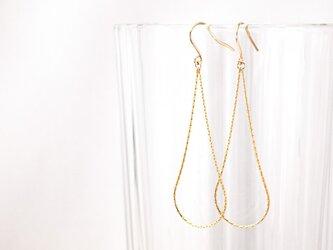14KGF Drop Chain Earringsの画像
