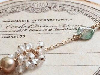 watermelontourmaline*topaz*braceletの画像